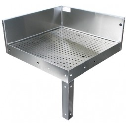 """Underbar SS dimensional 90˚ full corner drainboard 24""""L x 30""""R"""