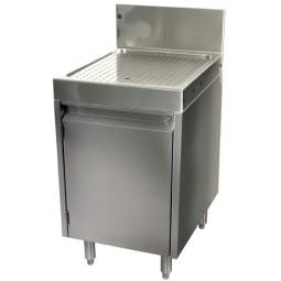 "Underbar SS drainboard cabinet 1 door 18""W x 19""D"