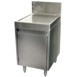 "Underbar SS drainboard cabinet 1 door 24""W x 24""D"