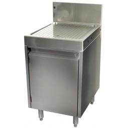 "Underbar SS drainboard cabinet 2 doors 30""W x 24""D"