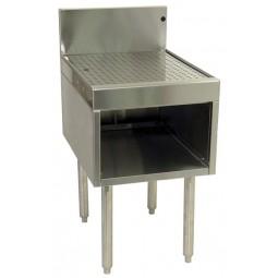 "Underbar SS drainboard 1/2 cabinet 1 door 12""W x 24""D"