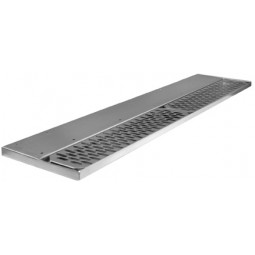 "Underbar SS drink rail left side drain 36""W"