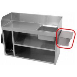 Wall-mounted pan holder, less pan