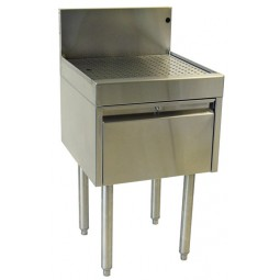 "Underbar SS drainboard drawer unit 18""W x 24""D"