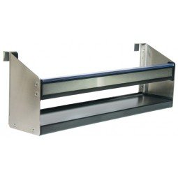 "Underbar SS speed rail for drainboard drawer 24"" long"