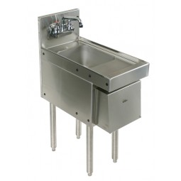 "Underbar SS hand sink, soap & towel disp. 12""W x 19""D"