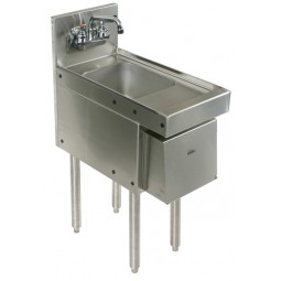 "Underbar SS hand sink, soap & towel disp. 12""W x 24""D"