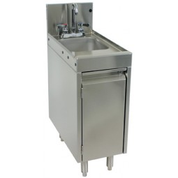 "Underbar SS wet waste sink, cabinet base 12""W x 24""D"