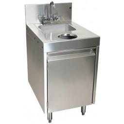 """Underbar SS wet waste sink, cabinet, chute 18""""W x 24""""D"""