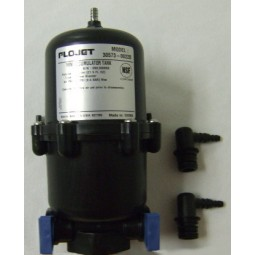 "Accumulator tank, .63 L (21.5 oz), butyl bladder, polypro shell, 3/8""- 1/2"" HB ports, metal air valve"