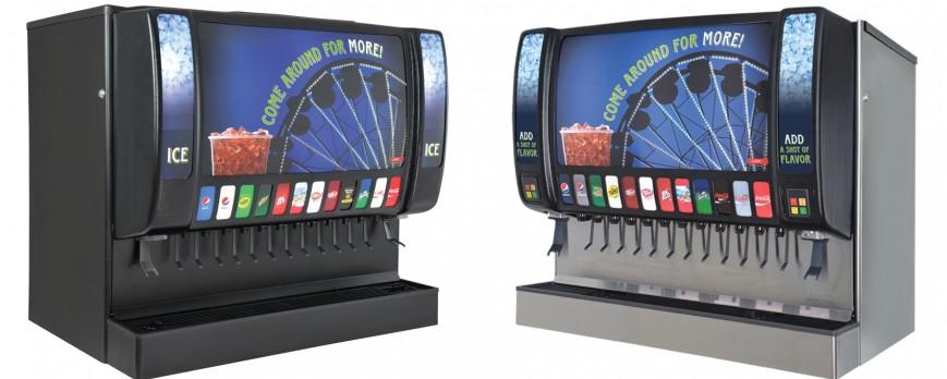 Sensation 44 Beverage Dispenser Dual Ice Chutes Bonus