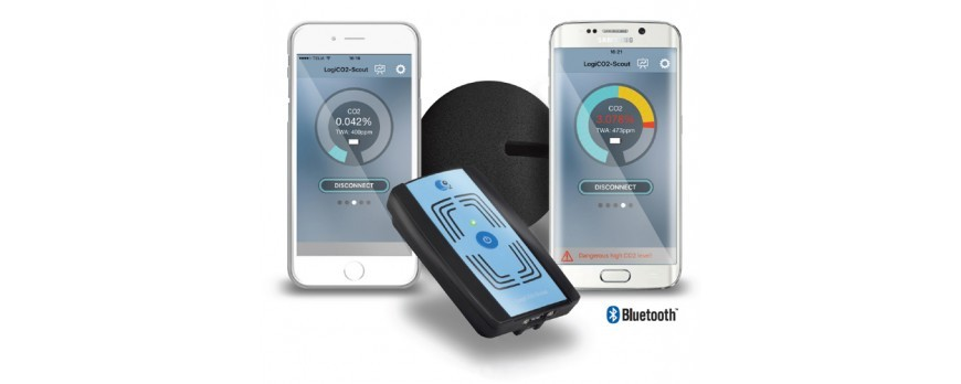 Personal CO2 Monitor That Remotely Communicates With Smartphone